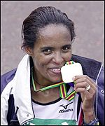 Another winner's medal for Ethiopian Derartu Tulu