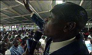 Reverend John Nduati at his Church of God
