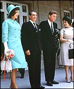 Jackie Kennedy and her husband during their time at the White House