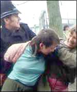 Greenham Common arrest