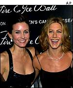 Courtney Cox and Jennifer Aniston from Friends