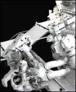 The Big Arm was attached over the course of two space walks