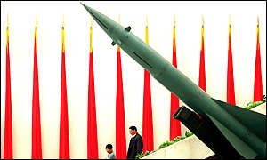 Missile on display at Beijings Military Museum