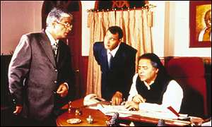 Minister Singh and advisers