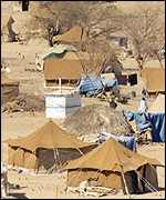 Displaced persons camp (UN picture)
