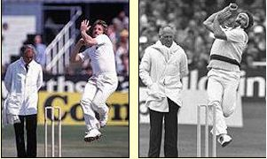 Ian Botham and Dennis Lillee: two of the greatest bowlers in Ashes history