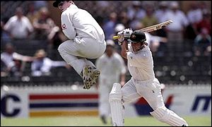 Justin Langer had England and John Crawley on the hop with 179 not out in Australia's Adelaide win