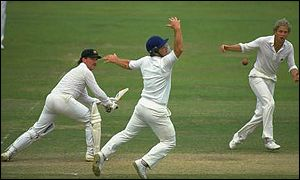 But Allan Border survived a scare or two in making 196 at Lord's as Australia squared the series