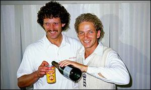 Prompting Richard Ellison and skipper David Gower to start the celebrations