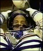 Space tourist, Dennis Tito, preparing for his journey