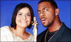 Nina Wadia and Richard Blackwood