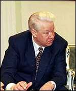 [ image: President Yeltsin urged his government to complete the negotiations as soon as possible.]