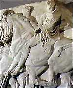 [ image: The Elgin marbles are on display at the British Museum]
