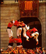 Catalan acrobats in human castle