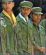 Khmer Rouge soldiers