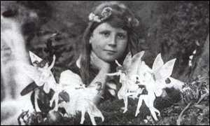 One of the infamous 'Cottingley fairy' pictures