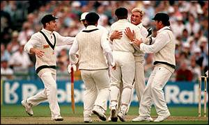 Warne's celebration at Old Trafford was to become all too familiar for England batsmen