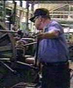 US factory worker