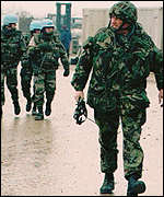 British soldiers, part of international force in Balkans