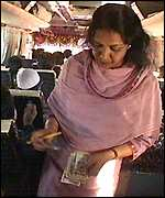 Woman bus conductor
