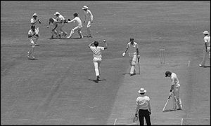 But it was Geoff Lawson who took centre stage with 11 wickets in the second Test