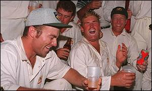 Sparking wild celebrations in the Australian dressing room