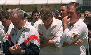 And the England team were left to hang their heads in shame