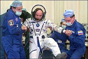 Dennis Tito preparing for launch