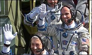 Dennis Tito and Soyuz crew