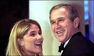 Jenna and George W Bush