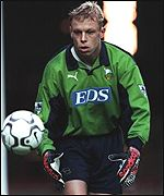 Mart Poom in action for Derby