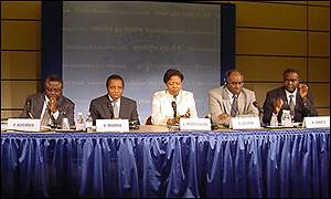 African finance ministers in Washington
