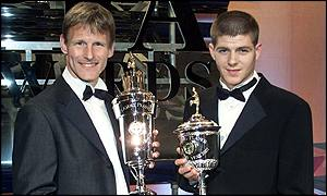 Sheringham and Gerrard took the plaudits of their peers