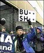 Protests at Mr Bush's inauguration