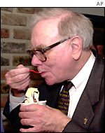 Warren Buffett eating ice cream