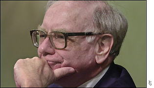 Warren Buffett at the Berkshire Hathaway annual shareholders meeting
