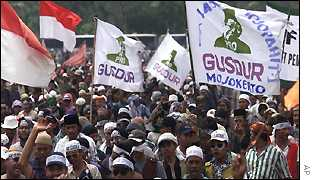 Pro-Wahid supporters protest in Jakarta