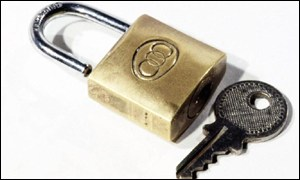 Padlock and key BBC