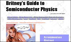 Britney Spears's Guide to Semiconductor Physics