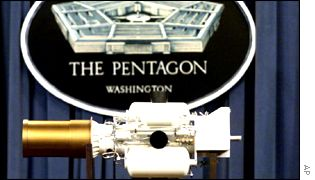 Miniature version of a kill device on display at the Pentagon