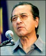 Dr Mahathir Mohamad, Malaysia's prme-minister