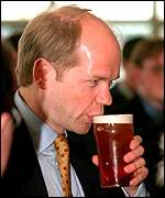 William Hague and a pint