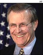 US Defence Secretary Donald Rumsfeld