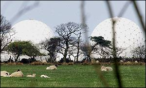 Menwith Hill communication centre, near Harrogate in Yorkshire.
