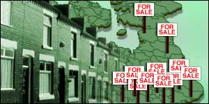 House sales signs across the UK