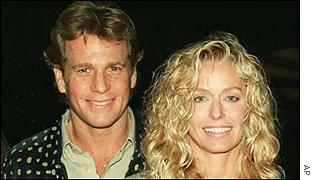 Ryan O'Neal and Farah Fawcett