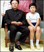 Kim Jong-nam with his father Kim Jong-il in 1981