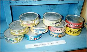 Tins in the Muynak museum