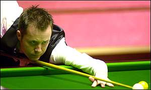 John Higgins in action in the semi-finals