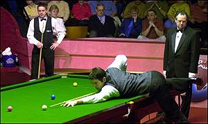 Ronnie O'Sullivan in action